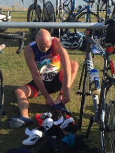 Changing in a triathlon