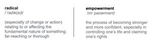 Definitions of Radical and Empowerment