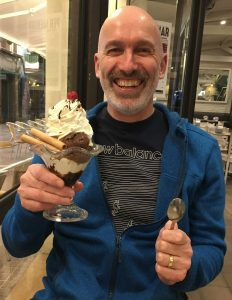 Martin with an ice cream