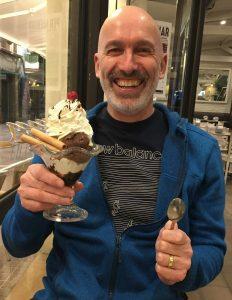 Martin with an ice cream