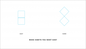 Make habits you want easy